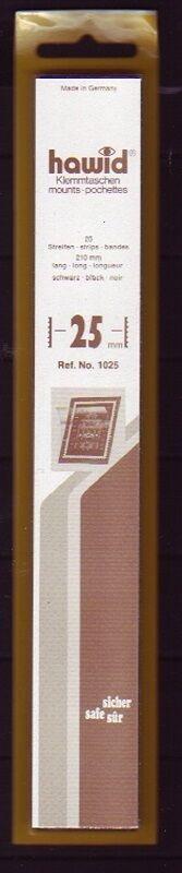 hawid Klemmtaschen  Streifen schwarz 210 mm lang für Markenhöhe 21 mm bis 55 mm 210 mm x 25 mm