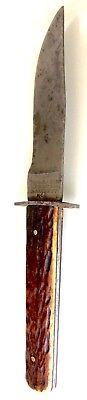 AMAZING VINTAGE USA CUTLERY VERY RARE FIXED BLADE HIBBARD SPENCER BARTLETT KNIFE