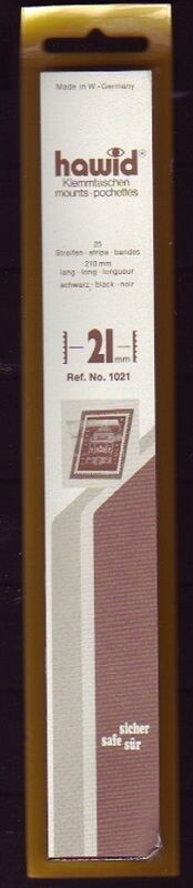 hawid Klemmtaschen  Streifen schwarz 210 mm lang für Markenhöhe 21 mm bis 55 mm 210 mm x 21 mm