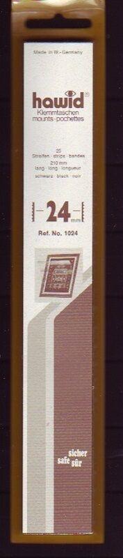 hawid Klemmtaschen  Streifen schwarz 210 mm lang für Markenhöhe 21 mm bis 55 mm 210 mm x 24 mm