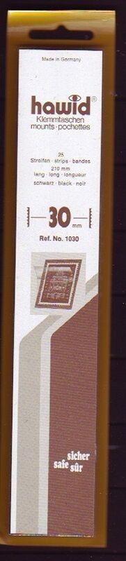hawid Klemmtaschen  Streifen schwarz 210 mm lang für Markenhöhe 21 mm bis 55 mm 210 mm x 30 mm