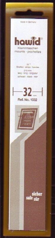 hawid Klemmtaschen  Streifen schwarz 210 mm lang für Markenhöhe 21 mm bis 55 mm 210 mm x 32 mm