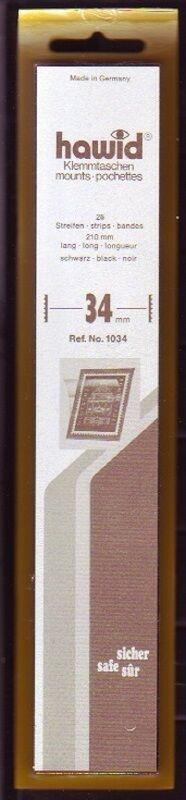 hawid Klemmtaschen  Streifen schwarz 210 mm lang für Markenhöhe 21 mm bis 55 mm 210 mm x 34 mm
