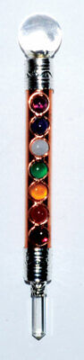 Copper 7 Chakra Healing Wand Wholesale Wiccan Witchcraft Supply Store