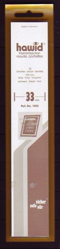hawid Klemmtaschen  Streifen schwarz 210 mm lang für Markenhöhe 21 mm bis 55 mm 210 mm x 33 mm