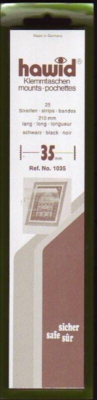 hawid Klemmtaschen  Streifen schwarz 210 mm lang für Markenhöhe 21 mm bis 55 mm 210 mm x 35 mm