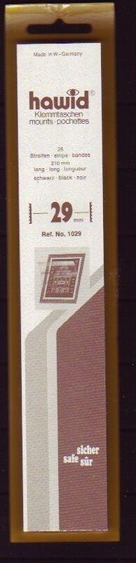 hawid Klemmtaschen  Streifen schwarz 210 mm lang für Markenhöhe 21 mm bis 55 mm 210 mm x 29 mm
