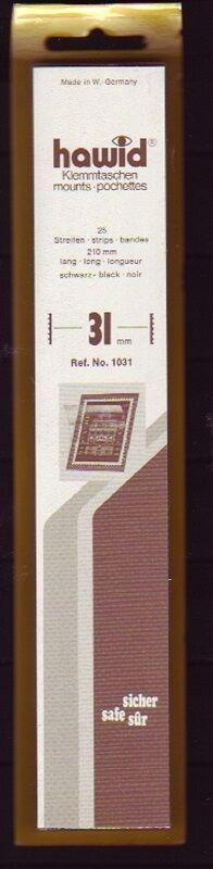 hawid Klemmtaschen  Streifen schwarz 210 mm lang für Markenhöhe 21 mm bis 55 mm 210 mm x 31 mm