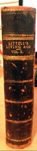 Antique Book - Littell's Living Age 1875, Leather