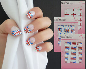 UK-USA-ENGLAND-Nail-art-Stickers-UK-SELLER-Jubilee-Olympics