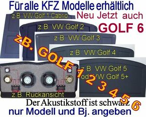 Soundboard VW GOLF 1 2 3 4 5 6 GOLF 5 + PLUS Sonderpreis 20mm + Deckplatte