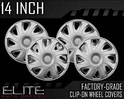 2000-2002 Corolla 14' Silver Clip-on Hubcaps on Sale
