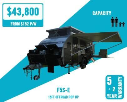 Fantasy 15ft Off Road Caravan Poptop Shower Bunks Timber Interior Hamilton Brisbane North East Preview