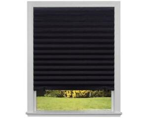 NEW Original Blackout Pleated Paper Shade Black, 36 x 72, 6-Pack