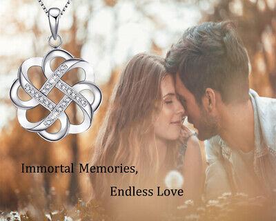 Endless Love Vintage Irish Celtic Knot Pendants Necklaces Womens Sterling Silver