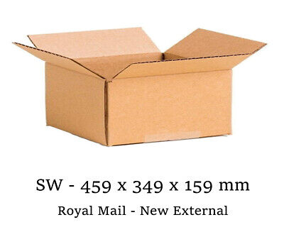 10 x New 459x349x159mm ROYAL MAIL MAX SIZE SMALL PARCEL CARDBOARD POSTAL BOXES