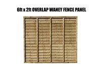 waney overlap fence panels 6ftx2ft !