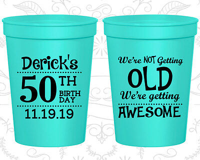 Personalized 50th Birthday Party Favor Cups Custom Cup (20052)