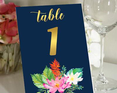 Liebling Souvenir Lotus Blumen Grenze Tisch Zahlen diy Hochzeit Empfang Karten ()