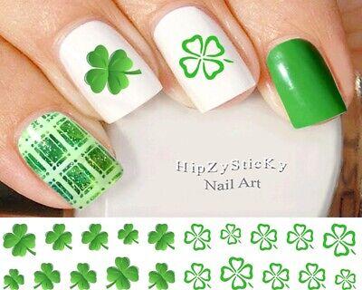 Shamrock Nail Art (Nail Art St Patricks Day #30 Clover Irish Shamrock WaterSlide Nail Decal)