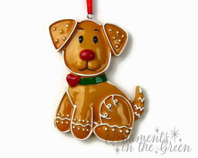 Gingerbread Dog - Puppy - Pet - Christmas Ornament - DIY Personalizable - PolarX - Diy Christmas Ornament