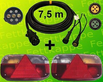 Aspöck Multipoint 3 - Leuchten Set - 7polig 7,5m + Abgang - Anhänger Beleuchtung