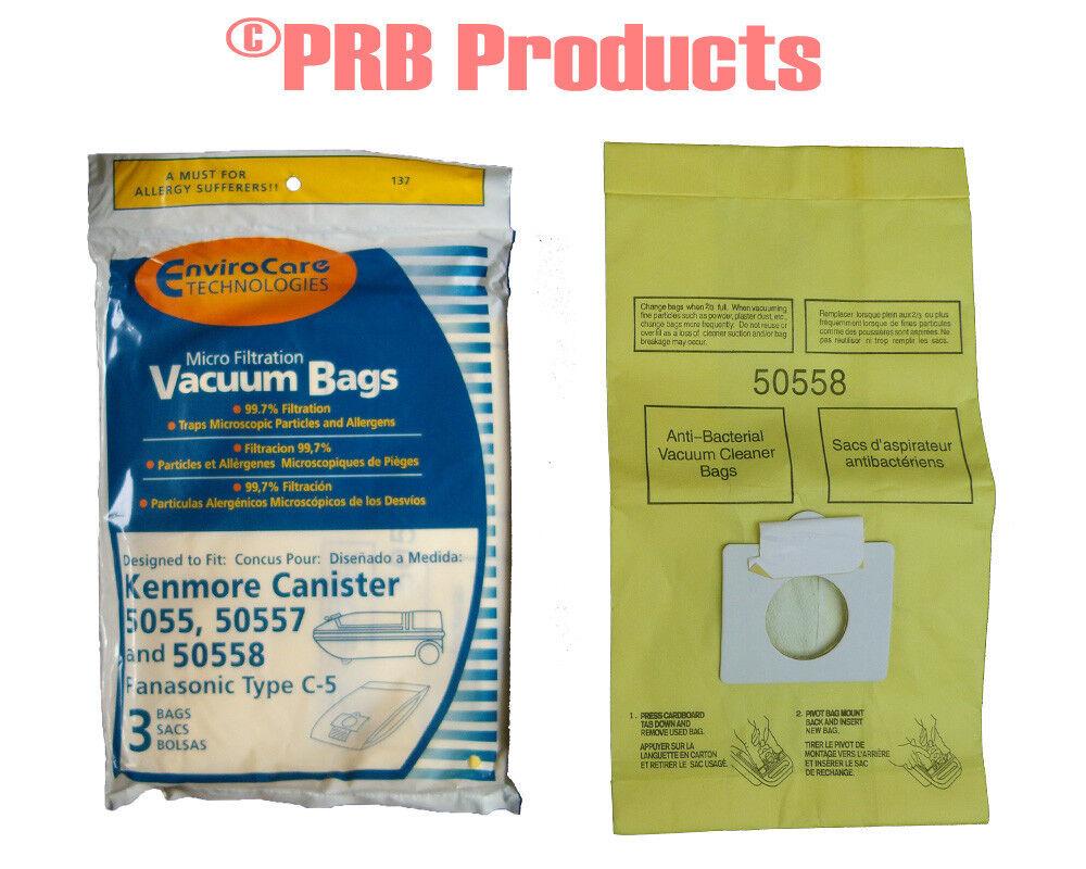 Kenmore 50558 50557 5055 Type C Sears Vacuum Allergen Bag Pr