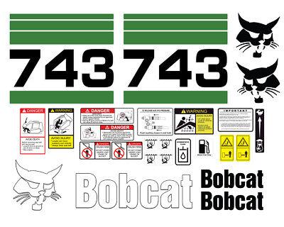Bobcat 743 Skid Steer Set Vinyl Decal Sticker - 25 Pc
