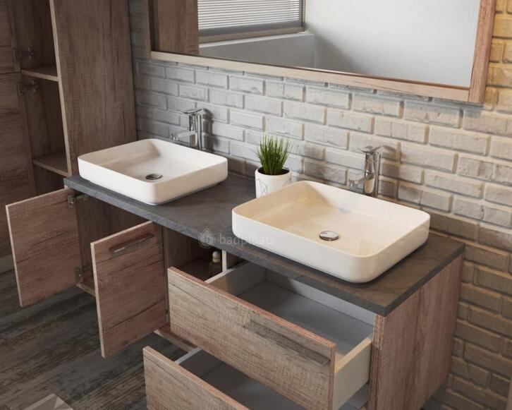 Badkamermeubel 50 Breed : Badkamermeubel vermont badmeubel wastafelkast badkamerkast