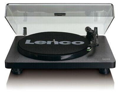 Lenco L-30 schwarz Plattenspieler Vinyl Player USB-Anschluss Riemenantrieb