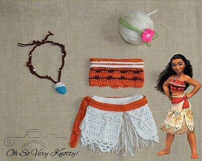 Disney's Moana Outfit, Moana Costume, Photo Prop Newborn, Baby Moana baby Theme  (Disney Newborn Outfits)