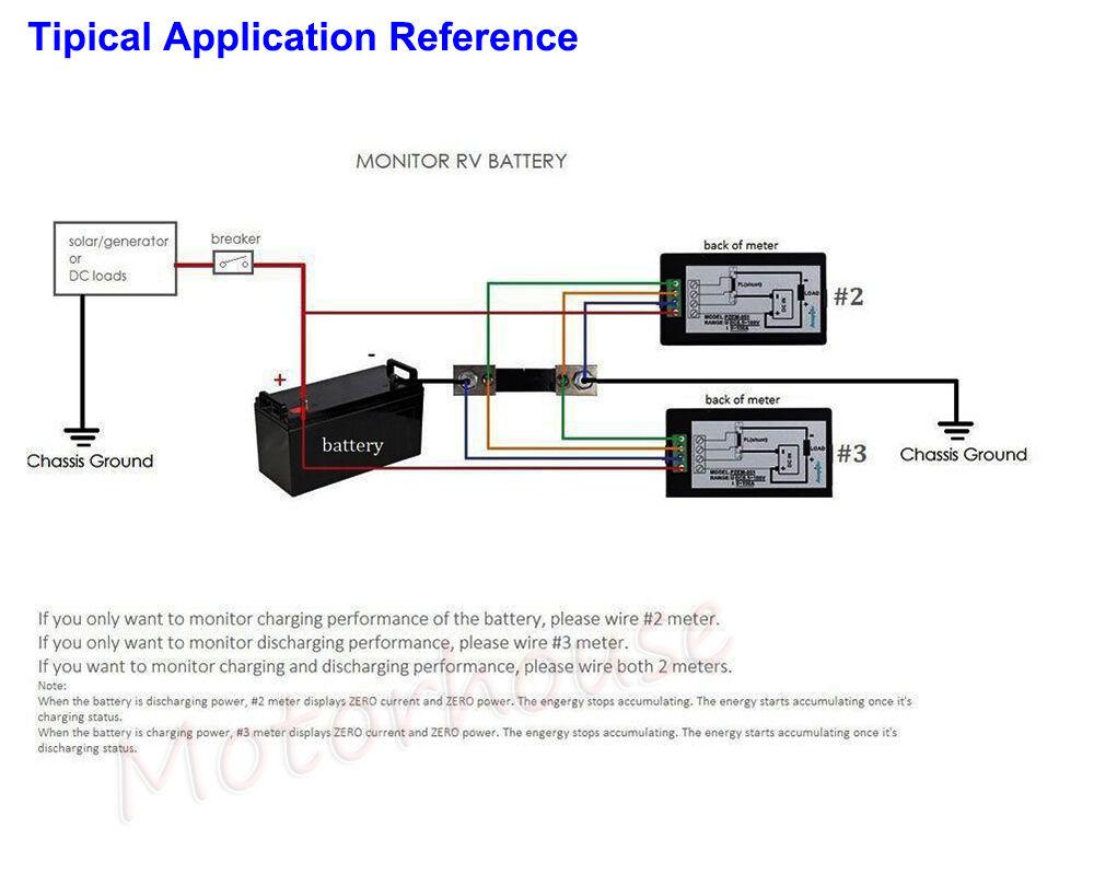 Lcd Dc Combo Meter 12v 24v 36v 48v Voltage Current Kwh Watt Car Battery Indicator Wiring Diagram 8 Of 9