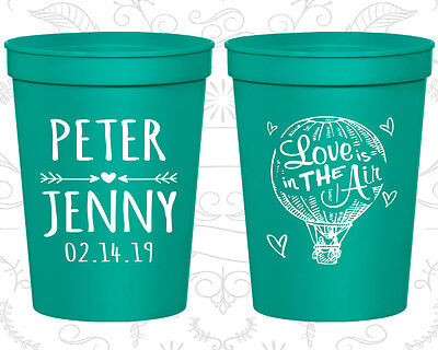 Personalized Wedding Gift Cups Custom Cup (210) Love Is In The Air - The Wedding Gift