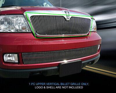 Vertical Billet Grille Upper Grill  For 2003 2004 2005 2006 Lincoln Navigator