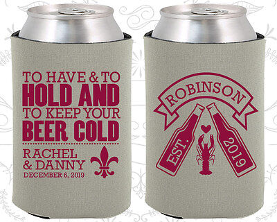 Personalized Wedding Koozies Custom Koozie (440) Crawfish Boil Party - Personalized Koozie