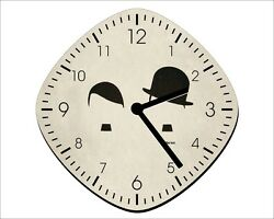 Charlie Chaplin Charlot Hitler Its the Hat - Wall Clock