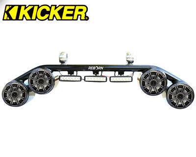 """Wakeboard Tower Speaker Light Combo Black KICKER 45KM654CW 6.5"""" Marine Speakers for sale  Shipping to Canada"""