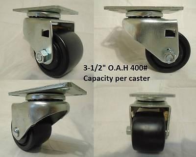 2-12 X 1-1316 Swivel Caster 3 12 O.a.h 400lb Each Low Profile 4