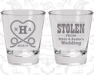 Wedding Favor Shot Glasses Shot Glass Favors (74) Stolen from Wedding