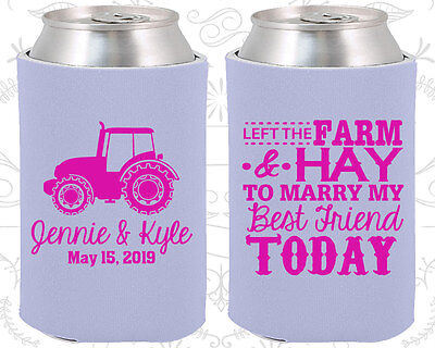 Personalized Wedding Coozies Custom Coozie (351) Tractor Wedding Favors (Wedding Coozies)