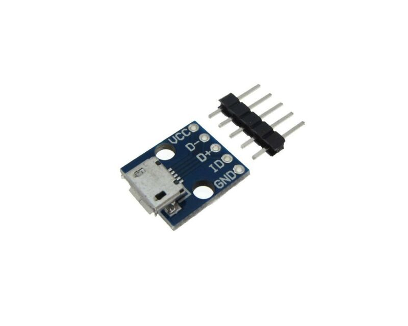 Micro USB Breakout Signals Board 5P - Pack of 2