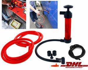 Siphon Pumpe Absaugpumpe Benzinpumpe Handpumpe Saugpumpe Umfüllpumpe Öl Wasser &