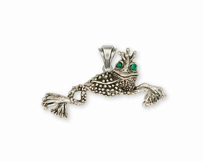 Toad Pendant Jewelry Sterling Silver Handmade Toad  Pendant TD2-XP