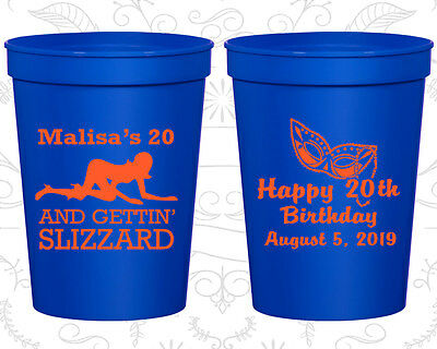 Personalized 20th Birthday Favor Cups Custom Cup (20084) Mardi Gras, - Mardi Gras Cups Personalized