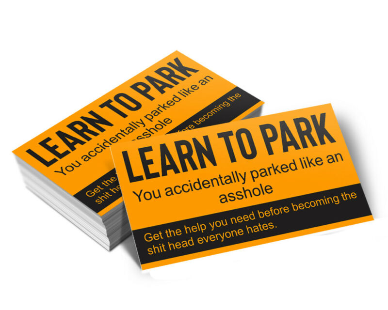 Learn To Park - Bad Parking Business Cards (Pack of 100)