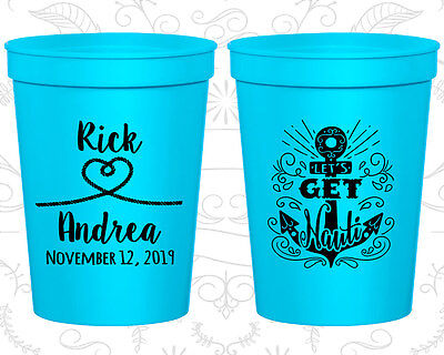 Nautical Wedding Favors (Personalized Wedding Party Cups Custom Cup (292) Nautical Wedding)