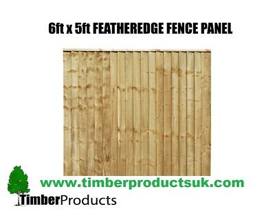 **PACK OF 5** CHEAP SPECIAL OFFER! 6 x 5 feather edge panels