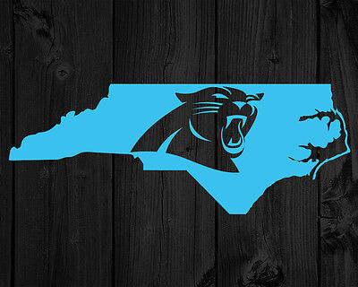 2 Carolina Panthers Decals | North Carolina State Silhouette | Football Fans