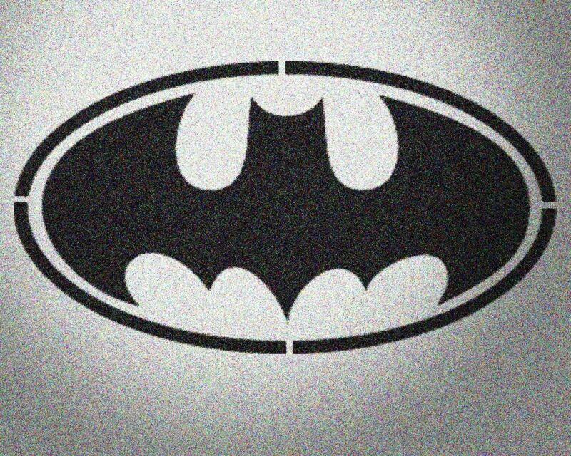 Batman Stencil Mylar  Kids Teen Room Stencils