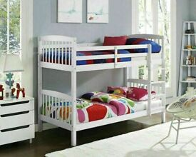 🔵💖SALE ON🔵💖🔴Kids Bed New Single Wooden Bunk Bed In Multi Colors With Optional Mattress